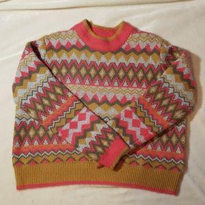 Marc New York pink/silver NWT sweater  sz L